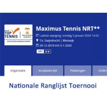Maximus Tennis Nationale Ranglijst Toernooi (NRT)