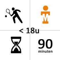 Tennishal Bleiswijk Winterles - Privé - voor 18u - 21x - 90m